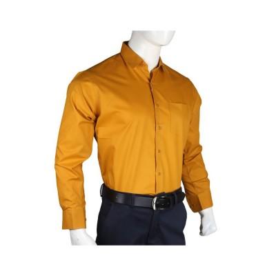 Men's Plain Dress Shirt - Mustard Color