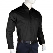 Men's Plain Formal Shirt - Black Color