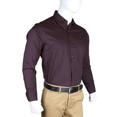 Men's Black Shirt With Polka Dots