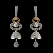 Indian Fancy Earrings Silver Stone