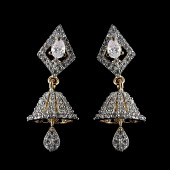 Indian Fancy Earrings Silver