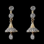 Fancy Indian Style Earrings Silver