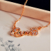 Queen Crown Gold Color Chain Necklace