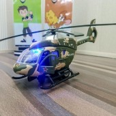 Army Helicopter With Light Diecast Scale 1:24