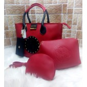 Guess Brand 4 Pc Leather Bag