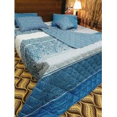 Blue And Grey 7pc Comforter Set