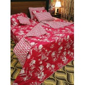 Red Color 7pc Comforter Set