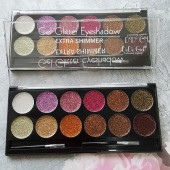 Palette Of 12 Shades Gel Glitter Eyeshadow