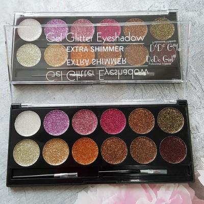 Palette Of 12 Shades Gel Glitter Eyeshadow
