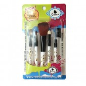 Queen Mini Leopard Makeup Brush Set