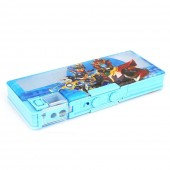 Boys Double Sided Pencil Box - Blue