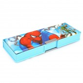Spider Man Double Sided Pencil Box - Blue