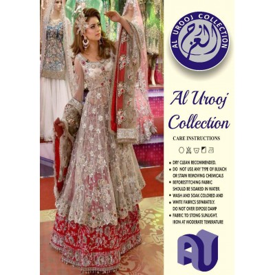 Complete Net Suit With Malaai Trouser And  Malaai Embroidery Plazo