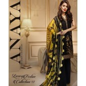 Anaya Linen Fabric Black Color