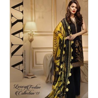 Anaya Linen Fabric Black Color