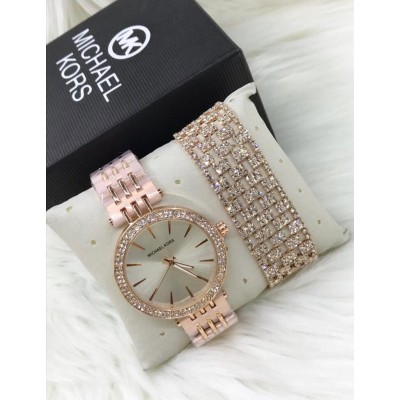Michael Kors Fancy Stone Watch With Bracelet