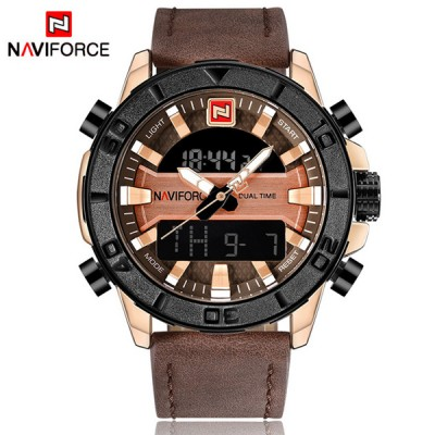 Navi Force Dual time brown