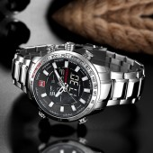 Navi Force Dual Time Silver