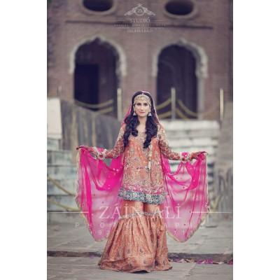Bridal collection chiffon suit