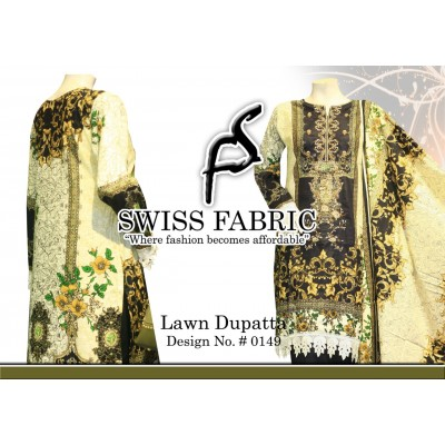 Swiss Fabric With Lawn Dupata Dress